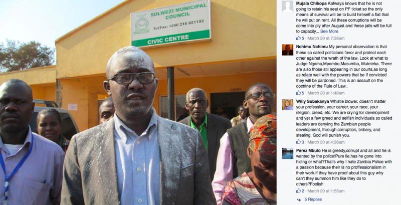 Dawson Kwafaya in a Facebook post by the Zambian Watchdog.