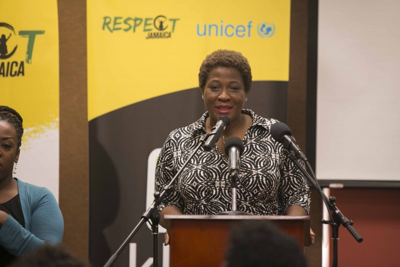 International speaker, Jehmu Greene, talks about the power of youth voices in social change at the National Youth Forum in November 2015. Photo courtesy Respect Jamaica, used with permission.