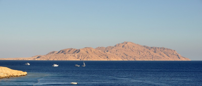 The Strait of Tiran and Tiran Island. Photograph by Marc Ryckaert. Source: Wikipedia. Used under CC BY 3.0