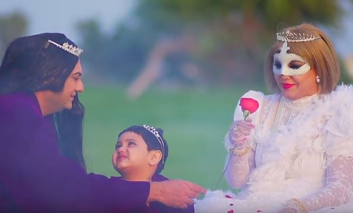 Screen shot from Tahir Shah's video Angel.