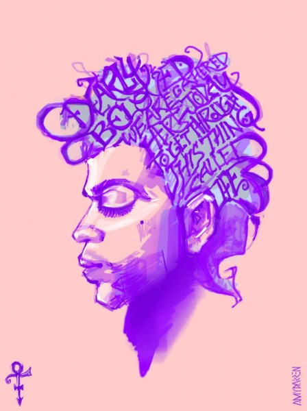 "Portrait of Prince by Darren ""Trinity"" Cheewah; widely shared on Facebook."
