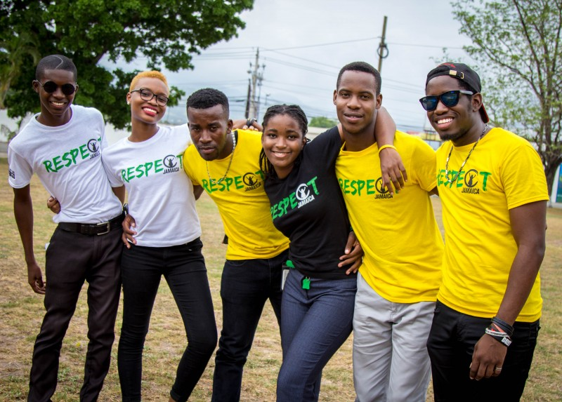 Some of Respect Jamaica's youth ambassadors. Photo courtesy Respect Jamaica, used with permission.