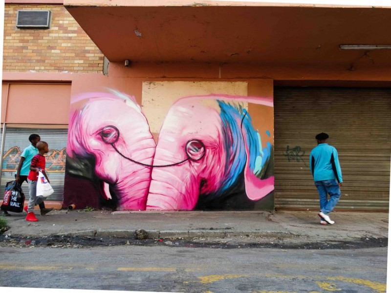 """One Vision"" in Johannesburg, South Africa 2015. Credit: Photo courtesy of Falko One"