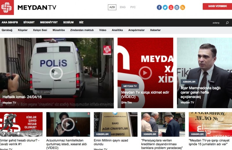 Meydan.tv homepage. Screenshot taken on April 24.