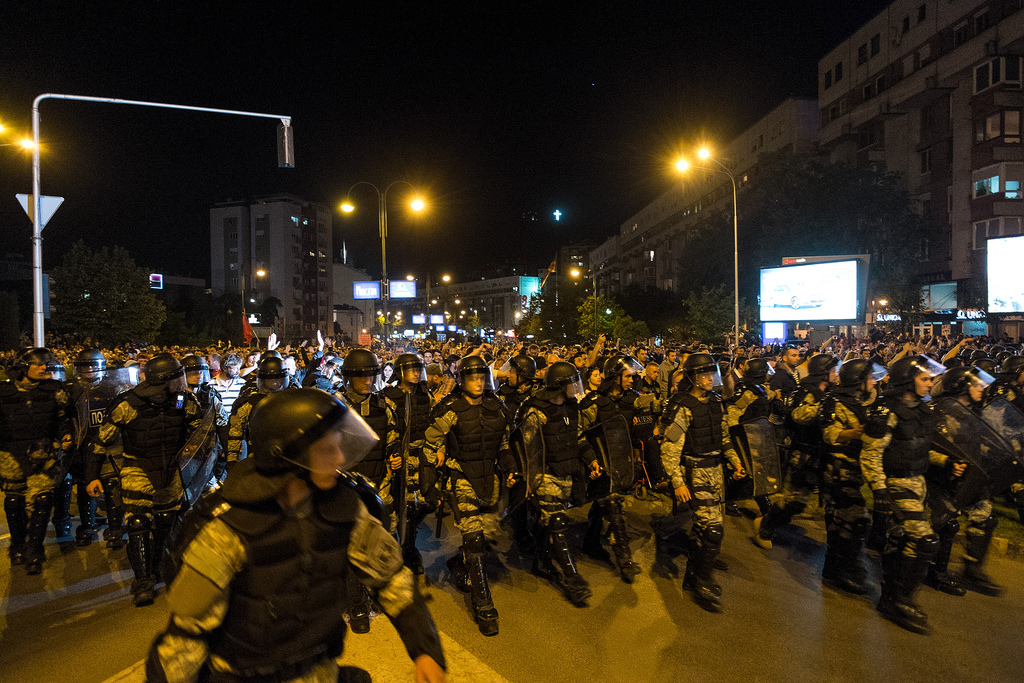 On the sixth day, the police removed their blockade near the Government building after 10.000 people gathered.