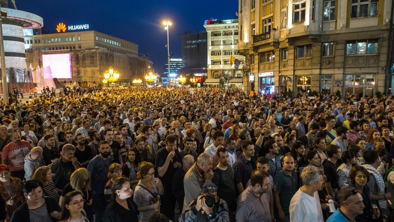 Protests in Macedonia Gain Momentum as New Round of Political