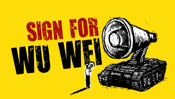 Many Chinese dissidents are signing up Wu Wei demanding Sydney University to reconsider the case and protect Wu's right on free speech . Image from change.org