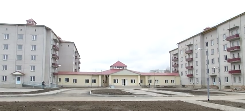The refugee center in Yahotyn, a town not far from the Ukrainian capital, was built to house asylum seekers from all over the world. Image from YouTube.
