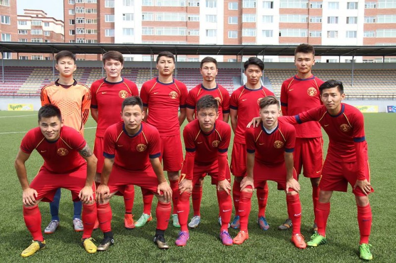 Bayangol FC photo shoot. (Photo of Bayangol FC, used with permission).
