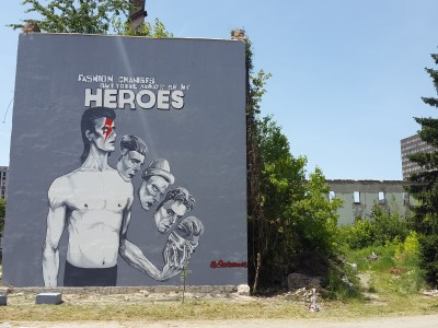 Giant David Bowie Mural Unveiled in Sarajevo