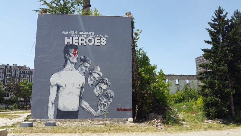 David Bowie mural in Sarajevo, Bosnia and Herzegovina