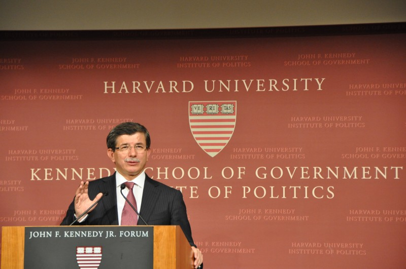 Davutoglu at Harvard. Creative commons.