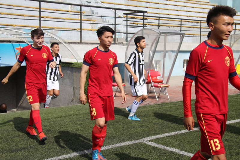 Bayangol FC are hoping for attendances of 100 and over as their battle to remain in the Mongolian Premier League begins next season. Photo of Bayangol FC, used with permission.