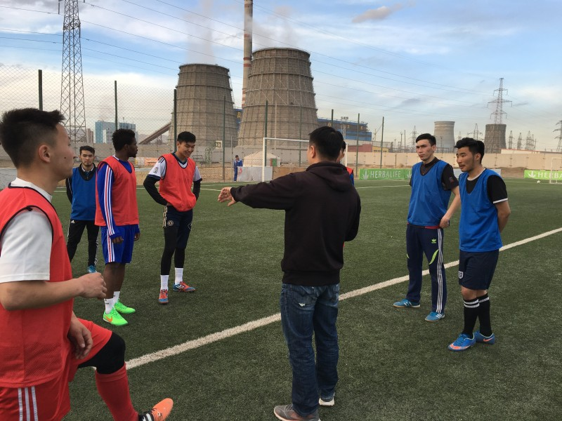 Bayangol FC training in Ulan Bator. (Photo of Balangol FC, used with permission).