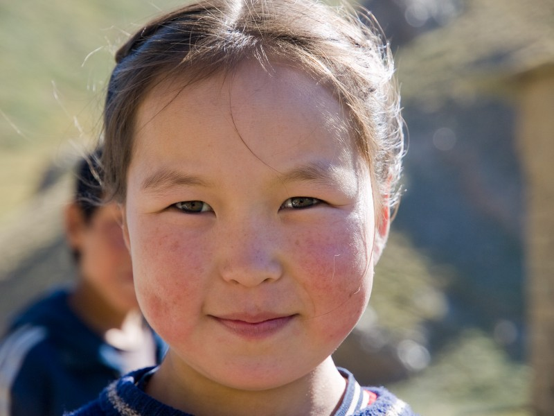 A Kyrgyz girl near the ancient heritage site Tash-Rabat. Wikipedia image.