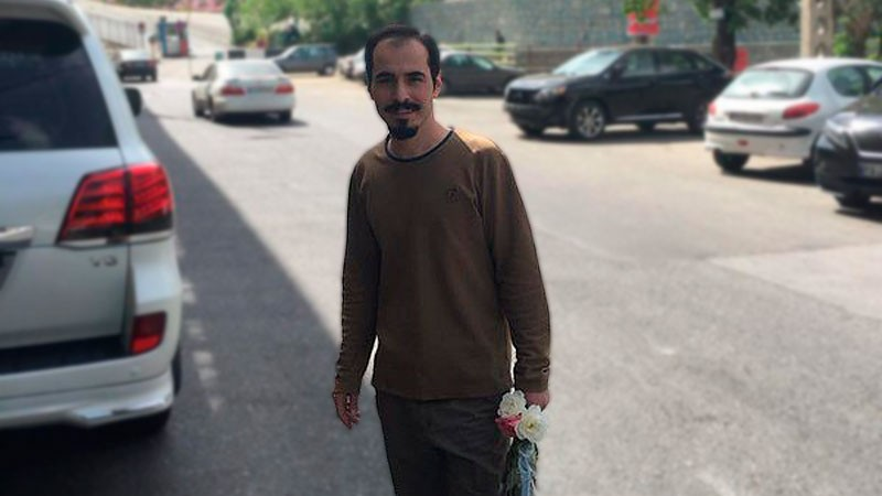 Hossein Ronaghi-Maleki. Picture uploaded to Twitter after his 2016 release on bail.