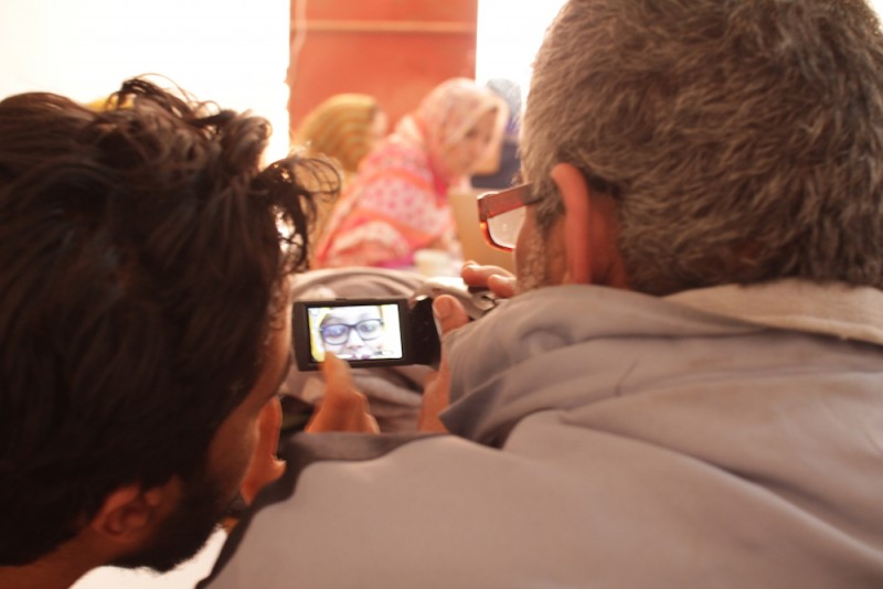 WITNESS video advocacy workshop in the Tindouf camps in February, 2016. Photo by Madeleine Bair.
