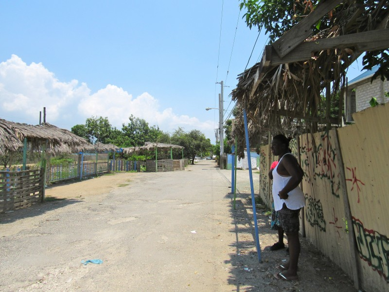 A vulnerable community in Jamaica where there is great insecurity. Photo by the author, used with permission.