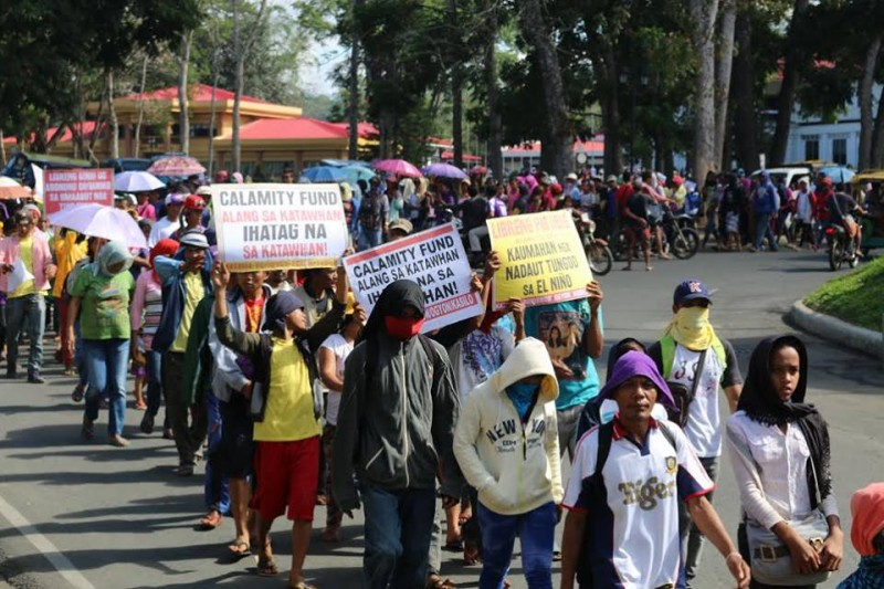 Farmers protesting in Bukidnon province. Photo from the Facebook page of RMP-NMR