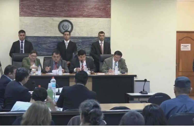 One of the Court sessions on Curuguaty case, last April | Photo: Que paso en Curuguaty/Facebook