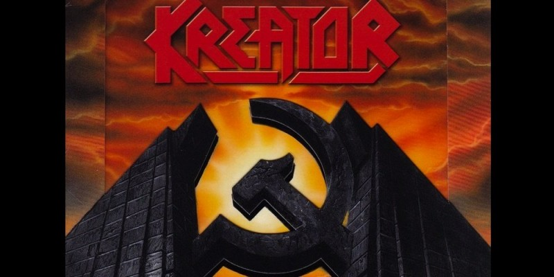 A store owner in Indonesia selling a t-shirt which features the album cover of German band Kreator was arrested for promoting the banned hammer and sickle communist symbol. Source: Wikipedia