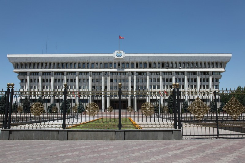 Kyrgyzstan's parliament: Never afraid of controversy. stock image.