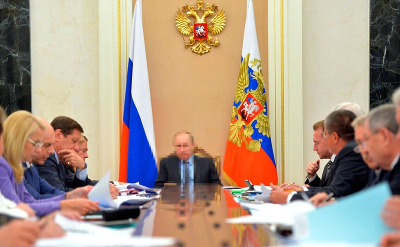 Putin meets with his Economic Council. May 25, 2016. Photo: Kremlin Press Service. Edited by Kevin Rothrock.