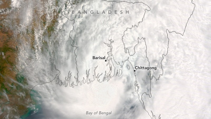 Satellite Image of Cyclone Roanu as on May 21, 2016. Image credit NASA Earth Observatory.
