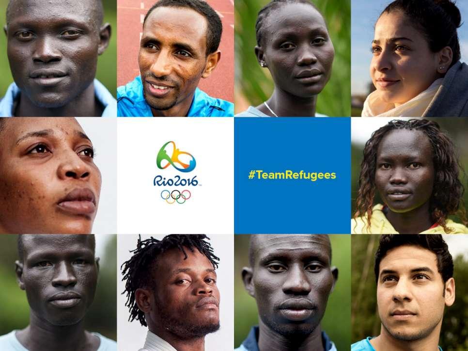 فريق اللاجئين المُشارك في الأولمبياد. المصدر: المفوضية السامية للأمم المتحدة لشؤون اللاجئين_فيس بوك