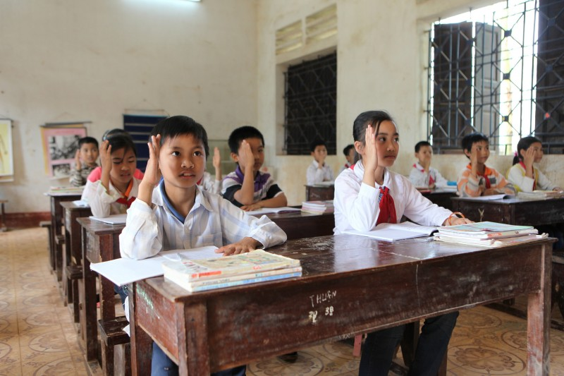 Children in a classroom at Thuong Nong Primary School, Tam Nong District, Phu Tho Province in Vietnam. Photo and caption by ILO/Truong Van Vi. Source: Flickr. CC License