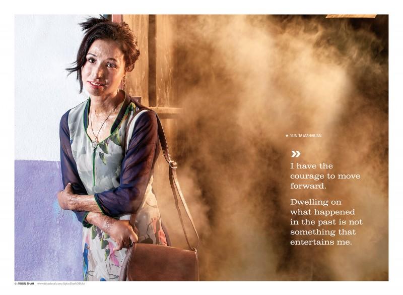 """""""Ho il coraggio di andare avanti. Rimuginare su ciò che è successo nel passato è qualcosa che non fa per me"""". Sunita Maharjan non è più preoccupata dal suo passato. Foto usata con permesso"""