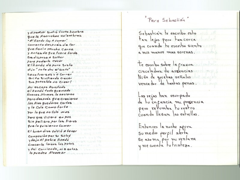 Pages of the Rawson notebook. Used with permission of Archivo Provincial de la Memoria del Chubut (Provincial Archive of Chubut's Memory)