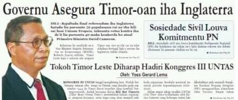 Govgerno Assegura Timor oan iha Inglaterra