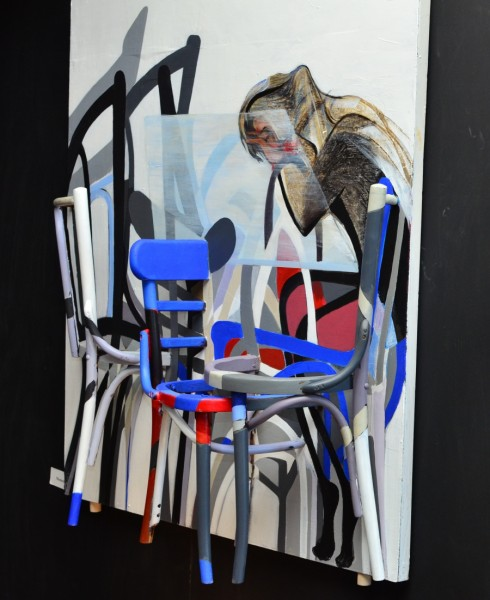 Chairs are symbol of power in Syria, says Syrian artist Jumana Jaber. Credit: Courtesy of the Institute of International Education