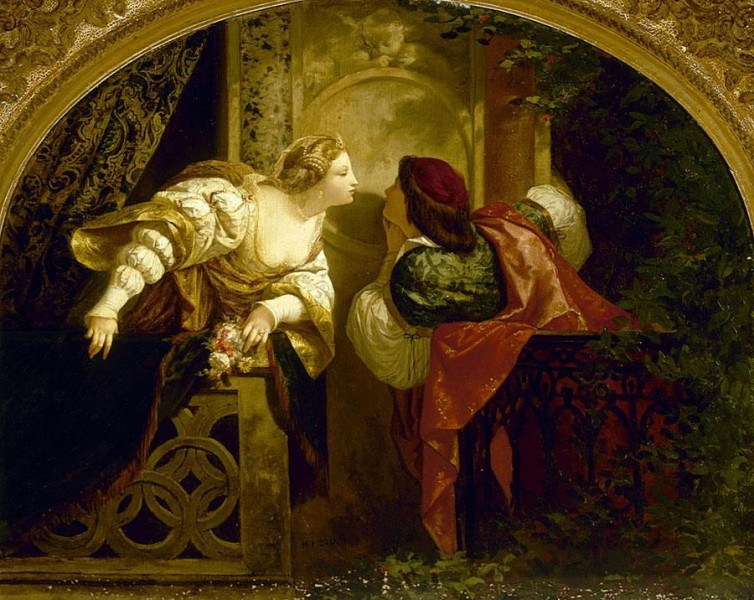 Henri Pierre Picou's Romeo and Juliet painting. Creative commons.
