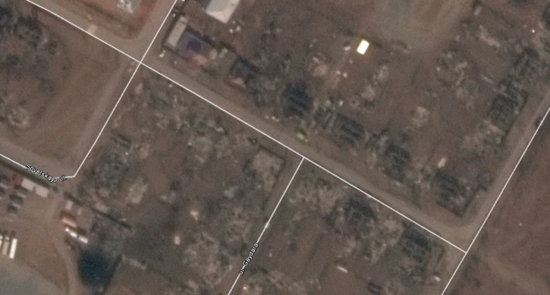 Figure 11: Screen capture from Google Earth of Mira Street in Shira, Khakassia, from April 15, 2015.