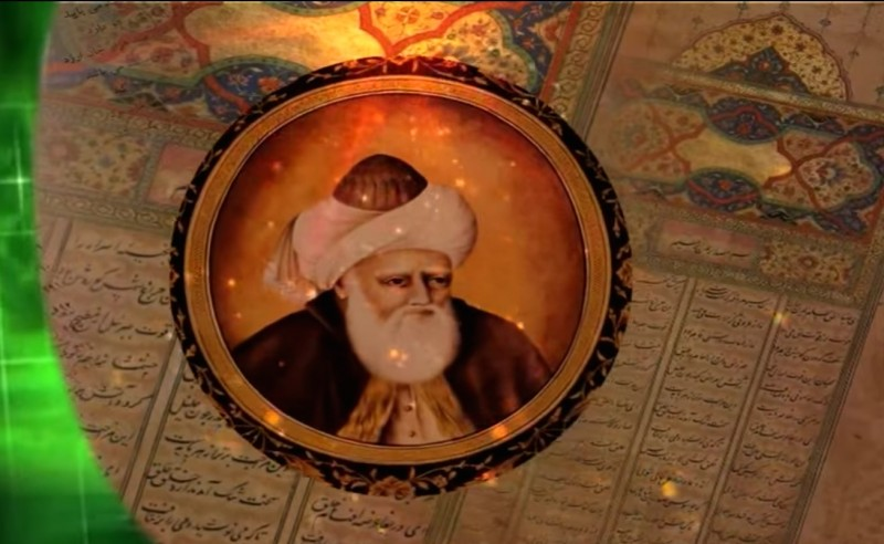 Rumi as depicted in a short film uploaded onto YouTube by user Ghaus Siwani.