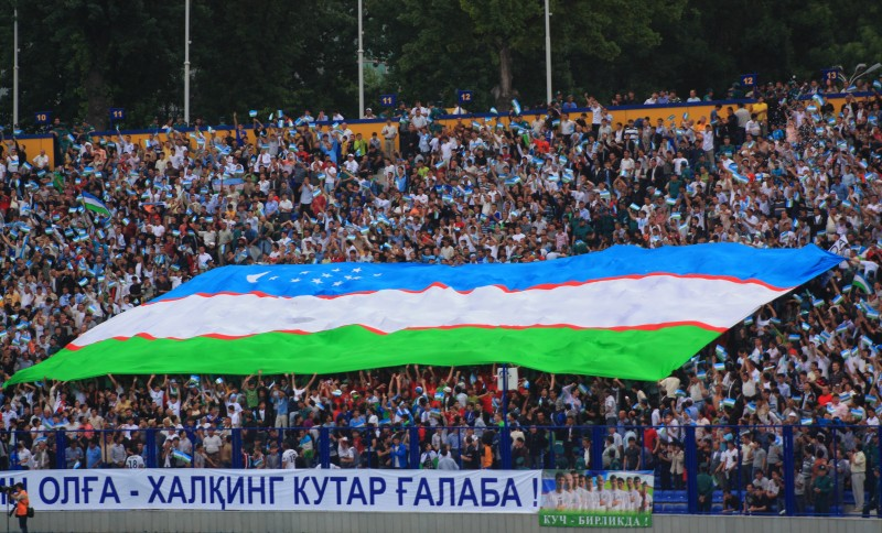 Football is popular in Uzbekistan, despite the country having never qualified for a World Cup. Wikipedia image.