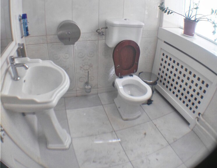 The restroom at Shokoladnitsa on Tverskaya Street. Photo: TV Rain. Used with permission.