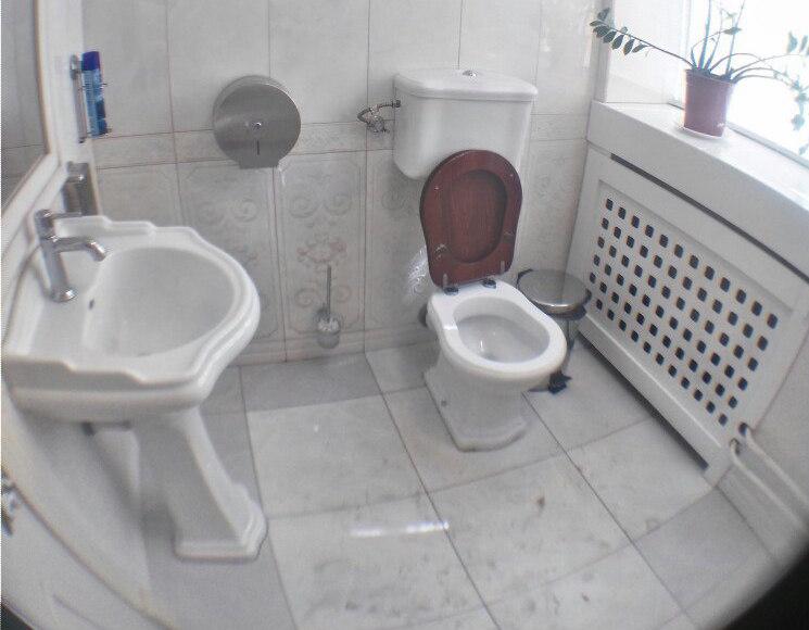 The restroom at Shokoladnitsa on Tverskaya Street. Photo: TV Rain. Used with permission.