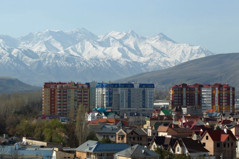 In Bishkek, a city of one million people, most people consume media in Russian. Beyond the confines of the capital, the Turkic Kyrgyz language dominates. Flickr image.