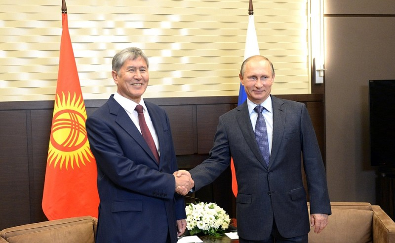 Kyrgyz President Almazbek Atambayev (left) has been Kyrgyzstan's president since 2011 and is constitutionally bound to leave office in 2017. The country has become less authoritarian under his government, but shows regular signs of backsliding.
