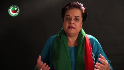 Member of National Assembly Shirin Mazari. Screenshot from 92newshd.tv