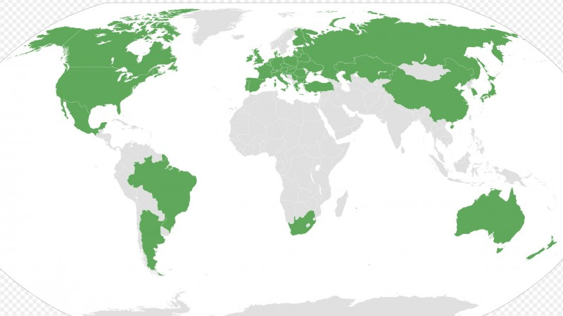 Current Member States f the Nuclear Suppliers Group. Image by Lofo7 via Wikimedia Commons.
