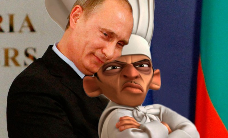 Vladimir Putin and what is probably his other favorite chef. Image by Kevin Rothrock.