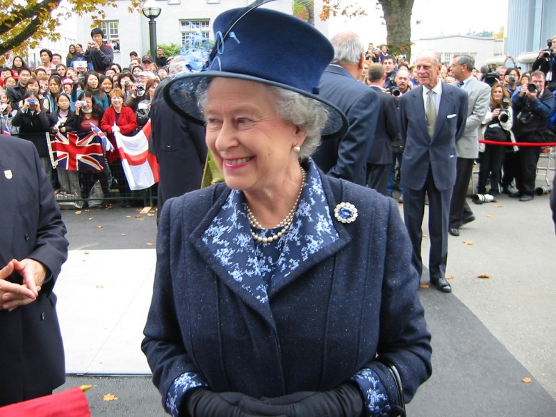 HM Queen Elizabeth II at the University of British Columbia during the Queen's Golden Jubilee in 2002. Photo by Michael Chu, used under a CC BY-NC-ND 2.0 license.