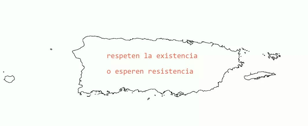 """Respect the existence, or expect resistance."" Memes and digital art against PROMESA have flourished. This image was widely distributed on social media."