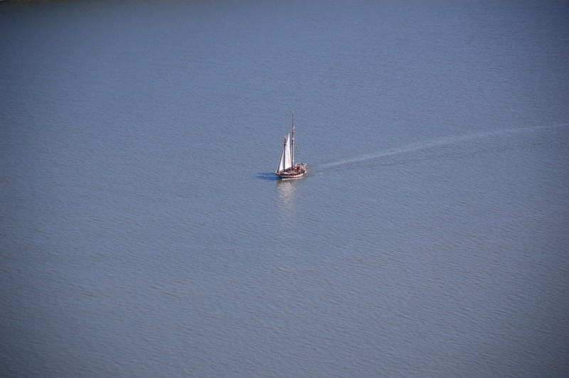"""Lonesome sailboat""; photo by Rawle C. Jackman, used under a CC BY-NC-ND 2.0 license."