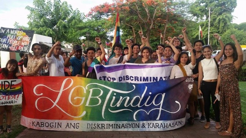 The term 'LGBTindig' refers to LGBT standing up for their rights. It also demands an end to discrimination. Photo from the Facebook page of University of the Philippine Manila Student Council; used with permission.