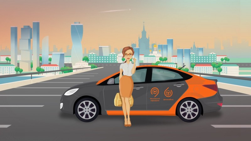 Promotional image from the DeliMobil car-sharing service.